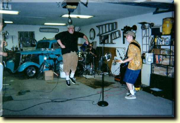 Here's an old picture of The Gops at practice.  BJ is catching some air.